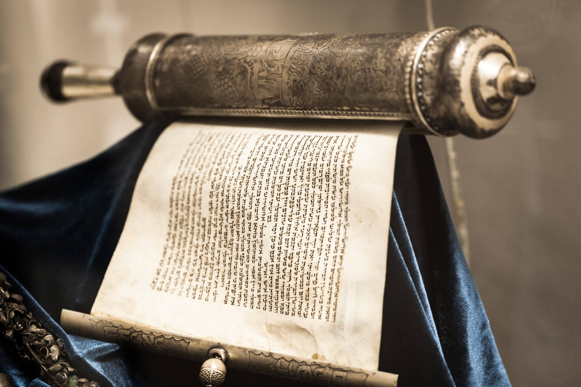 Imagem da Torah aberta